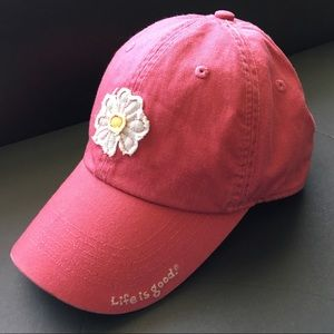 Life is Good Daisy Pink Ball Cap Baseball Hat